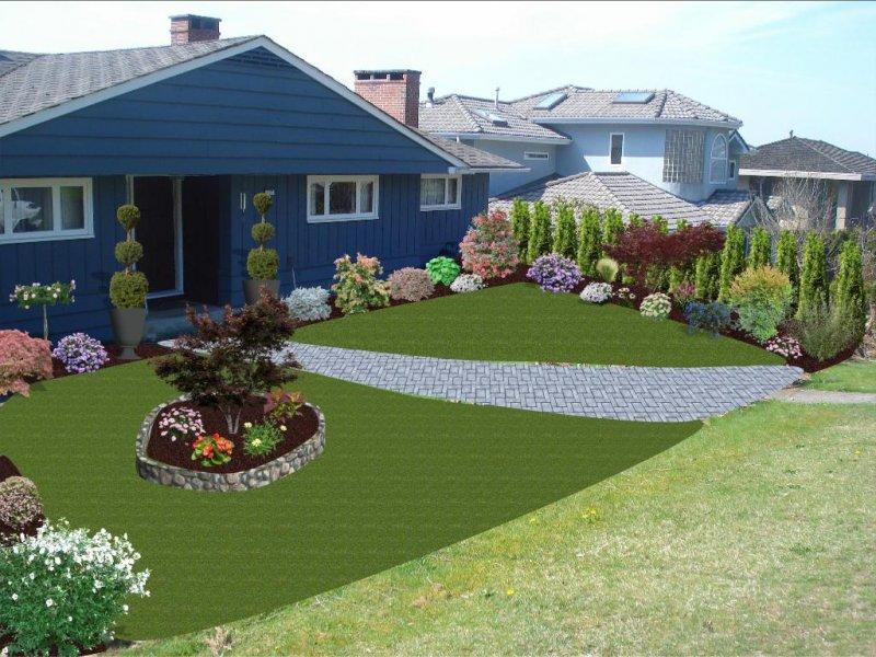 landscape design with patio