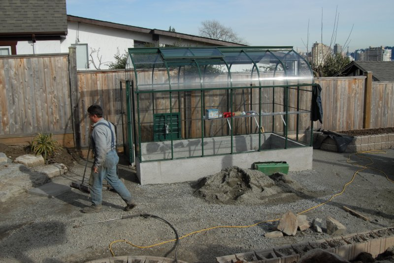 placement of the greenhouse