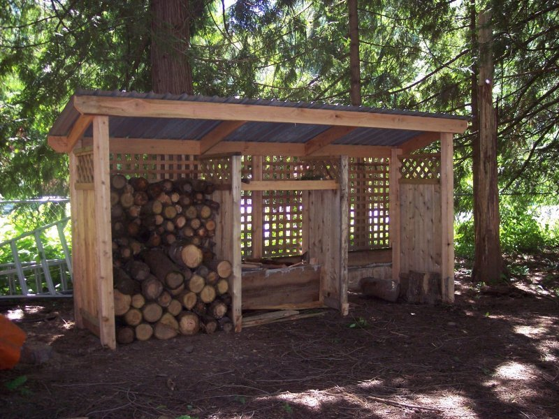 cedar firewood cover