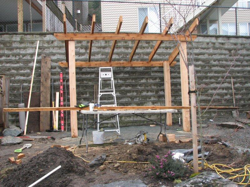 building of pergola