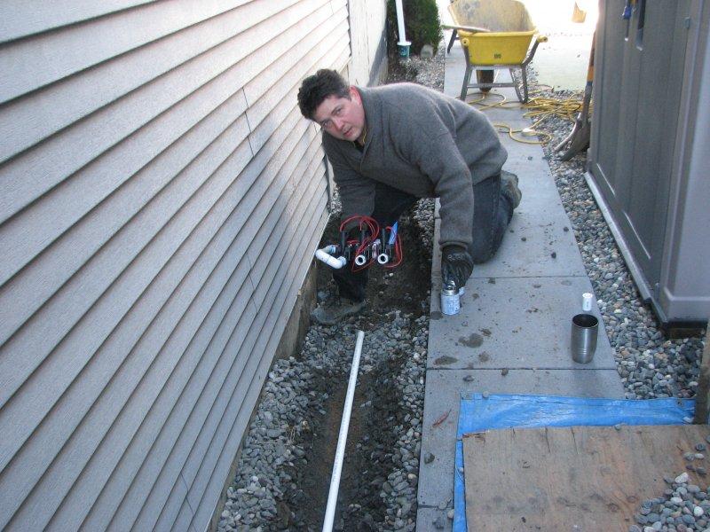 installing irrigation