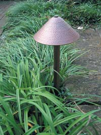 Copper garden path light