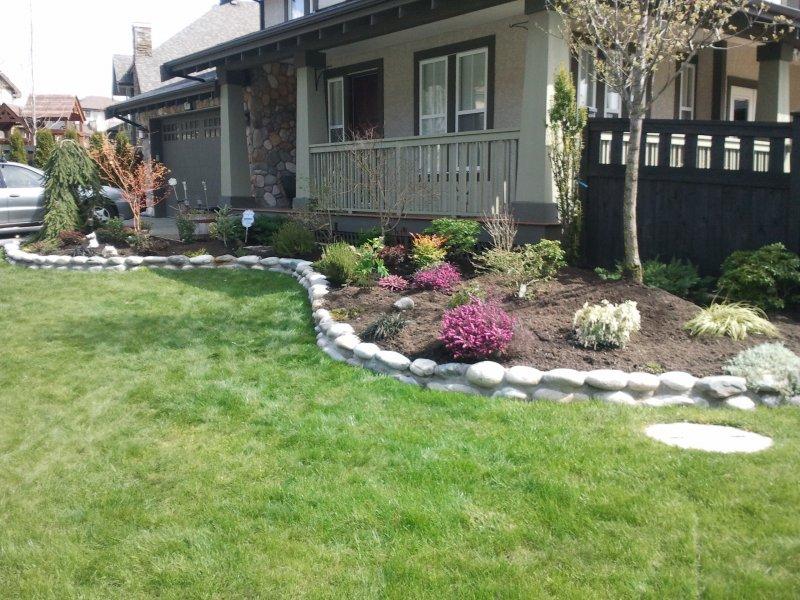 Rock garden edge