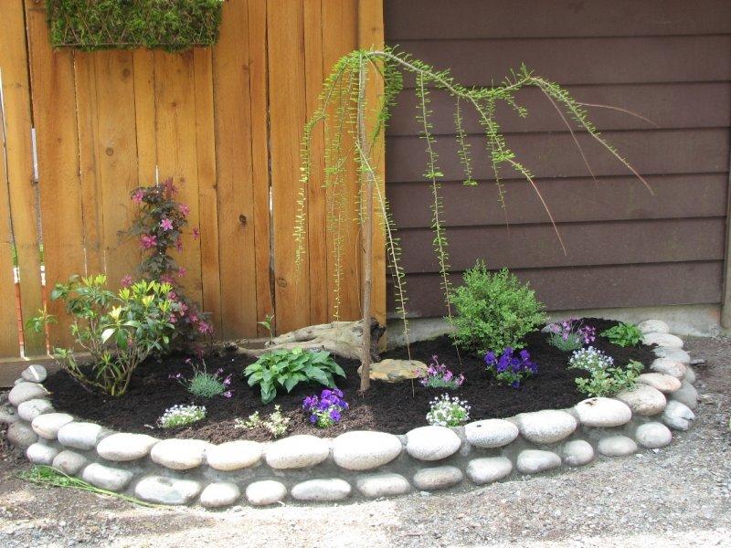 rock wall garden edge