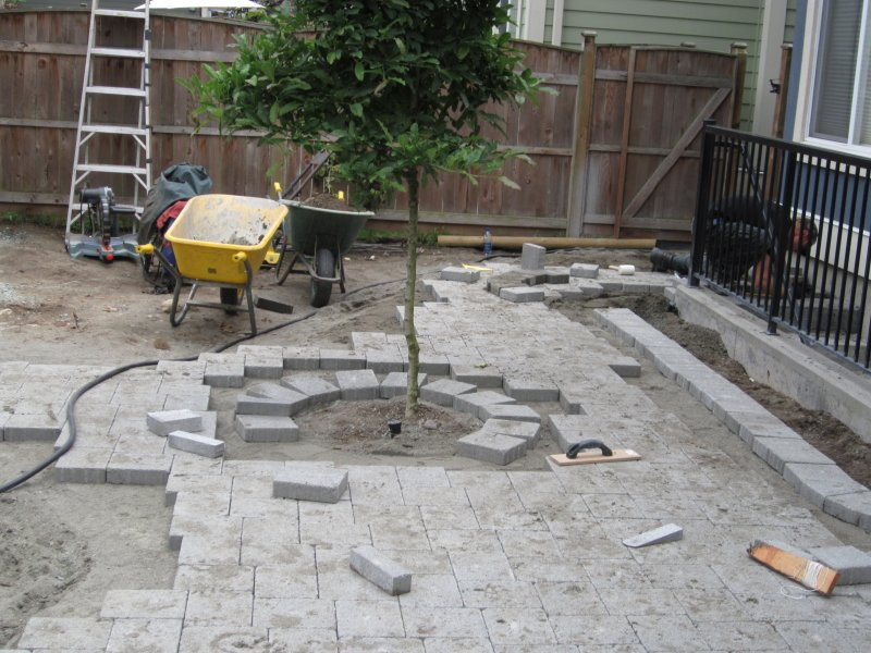 old country stone patio